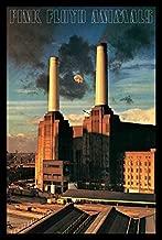 Buyartforless IF AQ 24918 1.25 Black Plexi Framed Animals 36X24 Music Art Print Poster Wall Decor British Progressive Rock Band Pink Floyd 14Th Album