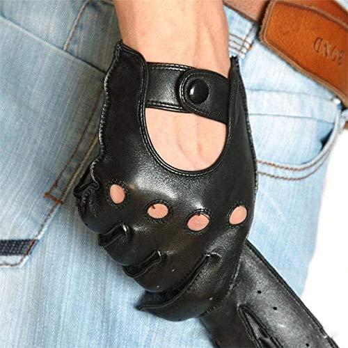 Bruce Dillon Lässige Herren-Touchscreen-Handschuhe Handgelenk Atmungsaktive Fahrhandschuhe - schwarz, L.