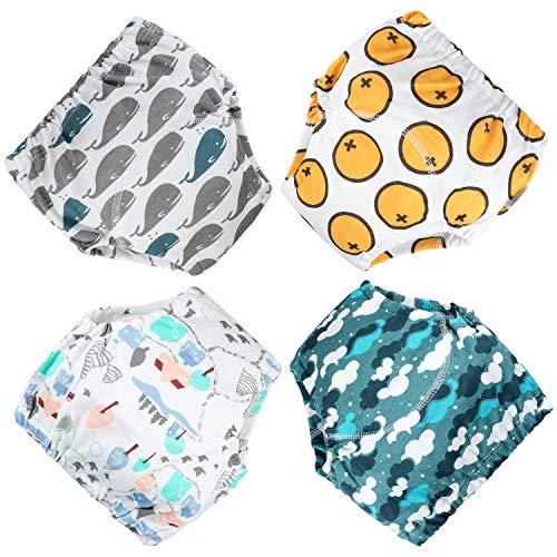 FLYISH DIRECT Baby Trainerhosen Töpfchentraining Unterwäsche Windeln Windelhose zum Toilettentraining Töpfchentraining, 4 Stück