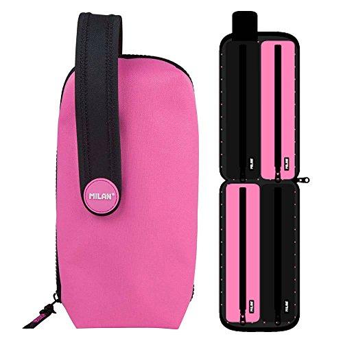 Estuche Milan Fluo Pink Handly Multipencilcase 31 Piezas