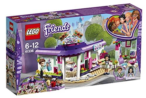 LEGO Friends - Café del Arte de Emma, Juguete con Mini Muñecas Divertido para Construir y Recrear Aventuras para Niñas y Niños de 6 a 12 Años en Heartlake City (41336)