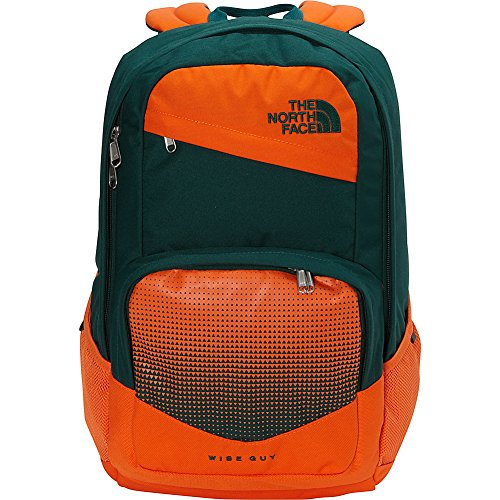 The North Face Wise Guy Backpack - Persian Orange & Botanical Garden Green - OS