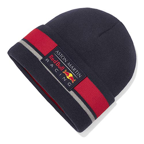 Red Bull Racing Official Teamline Beanie, Blau Unisex One Size Beanie, Racing Aston Martin Formula 1 Team Original Bekleidung & Merchandise