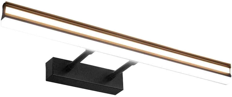 Amerikanische Spiegel vorne Licht Bad wasserdicht Beschlagfrei Kommode Einfache, moderne Badezimmer Wand Lampe Spiegelschrank Licht LED (warmes Licht) (Gre  70 cm)