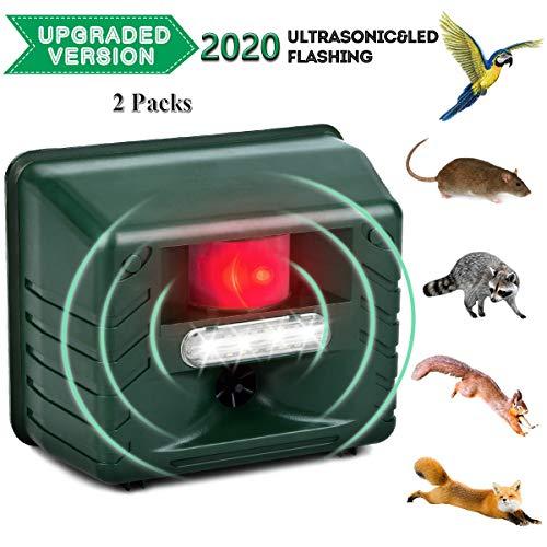 Repelente de animales ultrasónico al aire libre con energía solar repelente de plagas electrónico para ardilla pájaro roedor gato murciélago serpiente insecto araña mosquito 2 piezas ( Size : UK )
