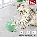 NamsanKatzenspielzeugElektrischKatzenballinteraktivesSpielzeugfürKatzenmitLEDLichtUSB-Aufladung