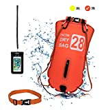 TACTIK Boa da Nuoto Acque Libere 20 e 28 Litri - Borsa Sicurezza Nuoto – Sacca stanga Mare (Kayak/Paddle Surf/Immersione/Snorkeling/Pesca/Triathlon/wakebord/Rafting/Canoa/Canottaggio)