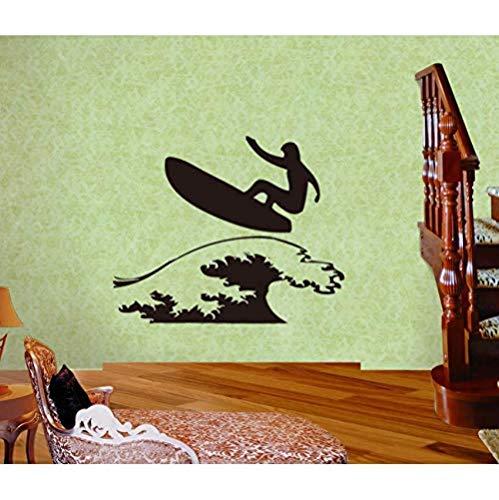 Jhping Muursticker Modern Modern Gesneden Holle Muurstickers voor het in kaart brengen Aangepaste Mode Surf Muren Woonkamer Studie Slaapkamer Persoonlijkheid Decals 35X60Cm