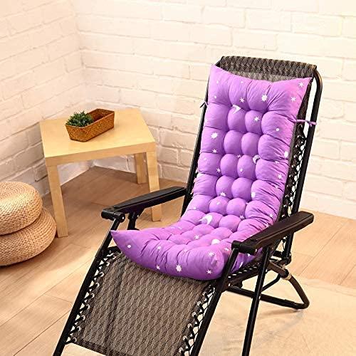 YKHAO - Cojín para tumbona, cojín plegable de ratán para silla de jardín de oficina en casa, cojín (sin silla)