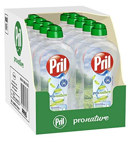 Pril Pro Nature, Geschirrspülmittel, 10 x 500 ml, umweltfreundliches Spülmittel mit hoher Fettlösekraft und frischem Duft