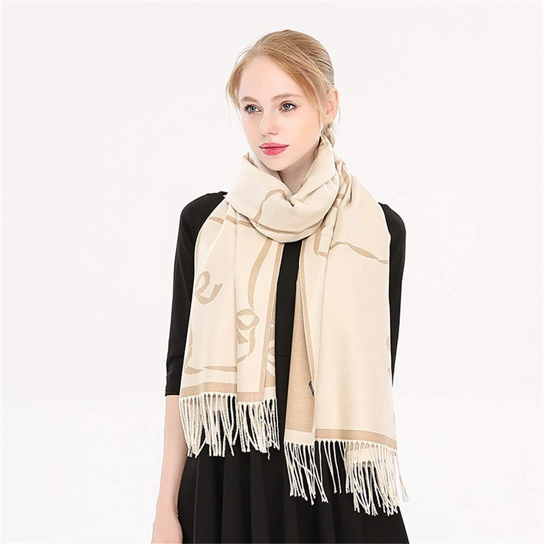 Bow Pattern Tassel Womens Soft Shawls Wraps Big Long Winter Scarf (color   03)