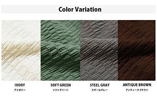 日本製 撥水 ストレッチ 座面カバー スチールグレー