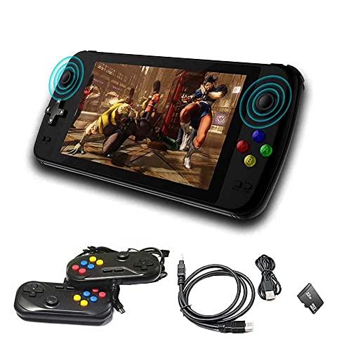 FXQIN Consolas de Juegos portátiles Consola de Videojuegos Retro de 32GB con Pantalla de 7 Pulgadas 4500 Juego clásico Handheld Games Consoles, Salida HDMI, reproducción de Video/música