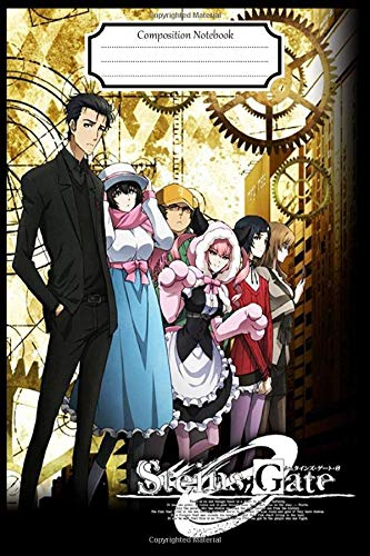 Composition Notebook:Steins Gate Anime Manga Journal/Notebook Blank Lined Ruled 6x9 120 Pages