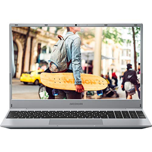 MEDION E15301 39,6 cm (15,6 Zoll) Full HD Notebook (AMD Ryzen 3 3200U, 8GB DDR4 RAM, 512GB M.2 PCIe SSD, AMD Radeon Vega 3, HD Webcam, Win 10 Home)