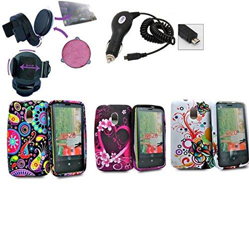 Accessory Master - Funda de piel con tapa para Nokia Lumia 620