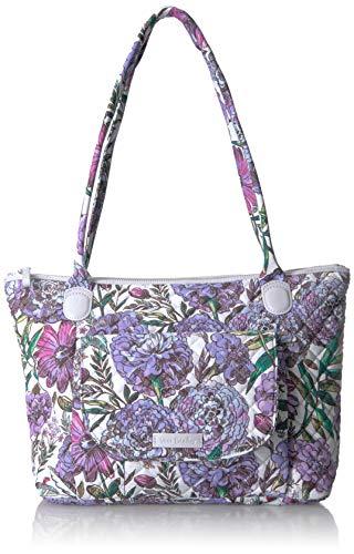 Vera Bradley Signature Cotton Carson East West Tote Bag, Lavender Meadow