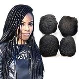 Lot de 4 Extensions de cheveux humains crépus de style afro, parfaits pour la...