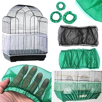Housse pour Cage Oiseaux Garde de Cage d'oiseau Couverture Protection Cage Oiseaux - Flexible, Permettre à l'air de circuler sans Bloquer la lumière
