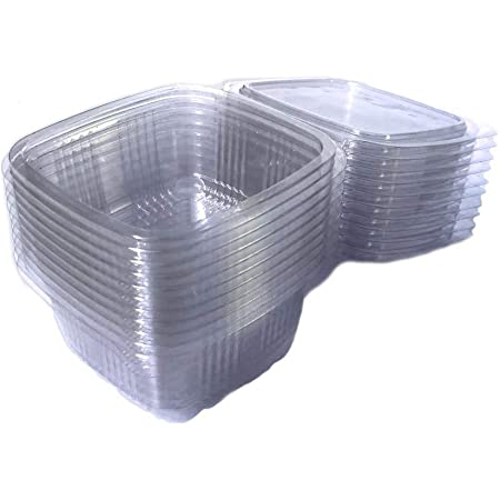 tasse de charcuterie avec Couvercle Transparent 250 ml - 50 pieces
