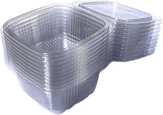 sellaviva Feinkostbecher 250ml (50 Stück) - Salatbox mit De