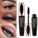 Ginkago 4D Silk Fiber Eyelash Mascara Extension Makeup Waterproof Curling Natural Eye Makeup