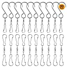 SINGARE Swivel Hooks Smooth Spinning Dual Clip Swivels for Hanging Wind Spinners Chimes Crystal Spiral Tails Twisters Windsocks Party Supply Small Plants Pots Bird Feeders Rotating Display, 20 Pack