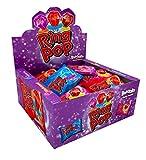 Ring Pop, paquete variado de fiesta envuelto individualmente, 24 piruletas de sabores surtidos, frambuesa azul, fresa, cola y grosella negra