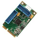 IO Crest Mini PCI-Express USB 3.0 Super-Speed Host Controller Card Renesas D720201 Chipset Windows OS XP 7 8 10 Server 2008 2012 R2 2016 SD-MPE20215