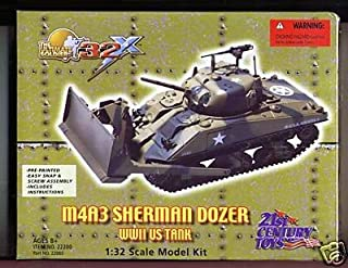 21st Century Toys M4A3 Sherman Dozer, WW2 Tank