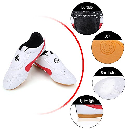 Scarpe Taekwondo Unisex Arti Marziali Sneaker Kung Fu Karate Boxe Sport Gym Trainning Scarpe Leggero Scarpe Traspiranti per Bambini Adolescente Adulti Hot(34 Size Suitable 210mm Foot Length)