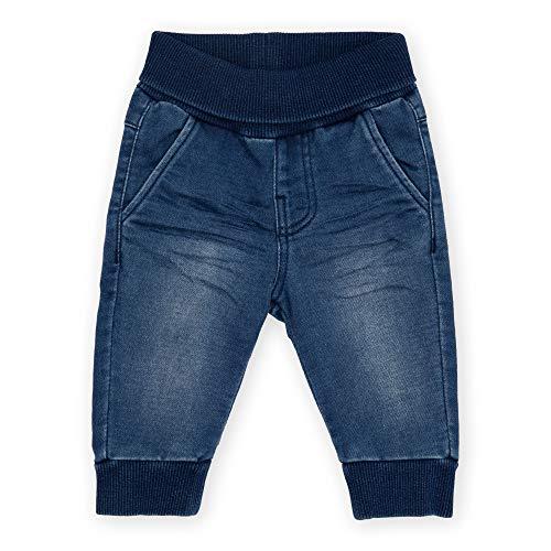 Sigikid Baby-Mädchen Sweat Denim Klecks, Größe 062-098 Jeans, Dunkelblau, 86