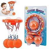 YAAVAAW Cerceaux de Basket - Ball de Jouets de Bain pour Enfants et Tout-Petits avec 3 Balles,Ensemble de Jeu pour Le Petit bébé...