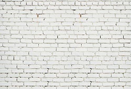 White Brick Wall Photography Backdrop,Classic Interior Wall Photo Background,Newborns Studio Birthday Photography Backdrops Props XT-7624