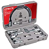 Carbyne Grease Gun Accessory Set - 12 Piece | All-in-One Set Includes Couplers, Nozzles, Adapters and Flex Hose