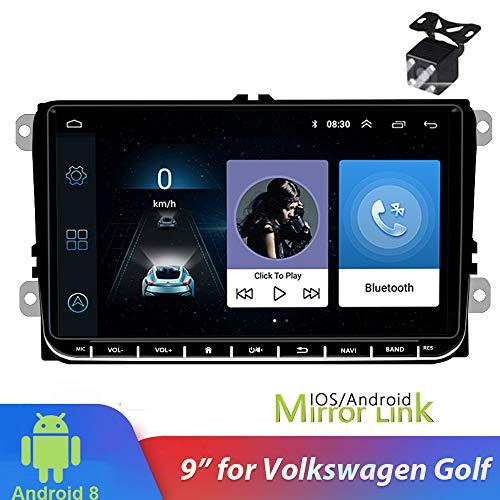 PolarLander 9 Inch Android 8.1 Auto Radio Navegación GPS Reproductor Multimedia estéreo WiFi Bluetooth para V/W S/Koda Golf 5 Golf 6 Polo Passat B5 B6 Jetta TIGUAN