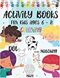Activity Books For Kids ages 6 - 8   Coloring   Dot   Matching   Maze: Animals Colors , maze , Connect Dot Large pring and matching activities book ... grade   gift christmas , halloween , birthday