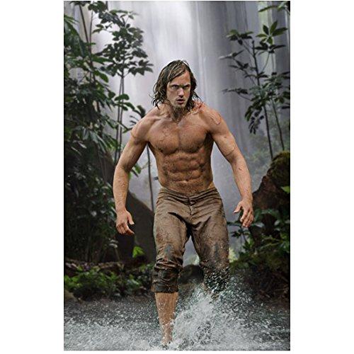 The Legend of Tarzan (2016) 8 inch by 10 inch PHOTOGRAPH Alexander Skarsgard & His Six Pack Splashing in Jungle kn