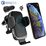CharGenius Wireless Car Charger Mount, Qi Fast Charging Auto Clamping Phone Holder, Dashboard Windshield Air...