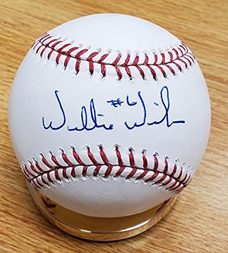 Autographed Willie Wilson Official Major League Baseball