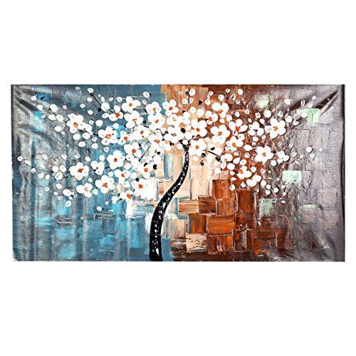Staright 60 * 120 cm sem moldura pintada à mão conjunto de pintura a óleo flor árvore decoração de tela para a sala de estar de casa quarto escritório arte imagem