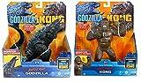 Godzilla vs. Kong 2021 Bundle of 2 Monsterverse Movie Series 7' Action Figures Battle Roar Godzilla and Battle Roar King Kong