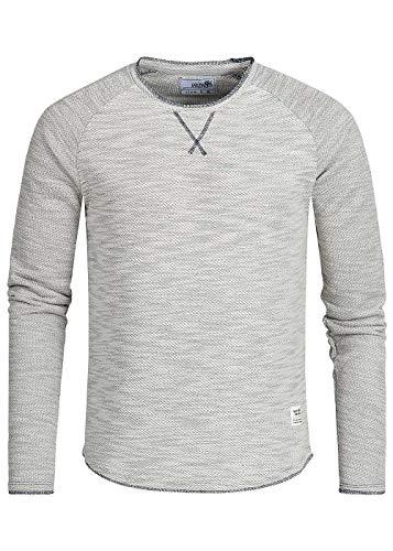 Hailys Herren Shirt Longsleeve Sweater Rundhals hell grau Melange, Gr:M