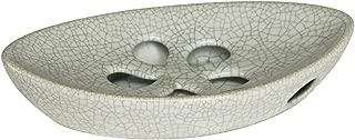 grey ceramic soap dish