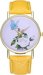 Stainless Steel Watches for Women,Female Watch for Small Wrist,Women's Watch,Women Watches,Ladies Wrist Watches on Clearance (Yellow)