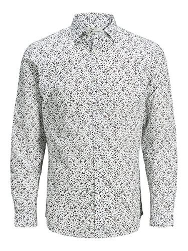 Jack & Jones Premium Jprblablackpool Shirt L/s S20 STS Chemise, Umber, L Homme