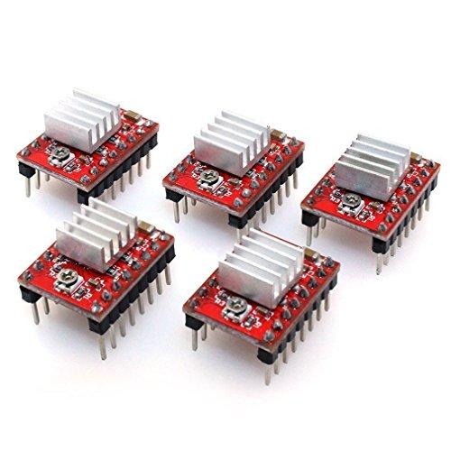 HiLetgo 5個セットRepRap A4988 ステッピングモータドライバモジュール HR4988 3Dプリンター 交換チップ [並行輸入品]
