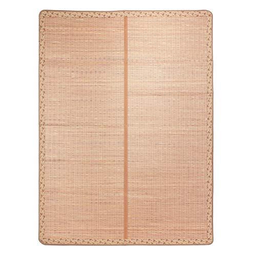 Junluck Badematte, Matratze Faltbare Bambusbodenmatte, Spa Senioren Saunabad für Kinderdusche(200 * 215cm)