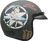 Vega Helmets 8529-222 Unisex-Adult Open Face Motorcycle Helmet (Bombs...