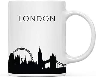Andaz Press 11oz. Tourist Travel Souvenir Coffee Mug Gift, London UK England Skyline, 1-Pack, Christmas Birthday Moving Away Study Abroad Graduation Bon Voyage, Includes Gift Box